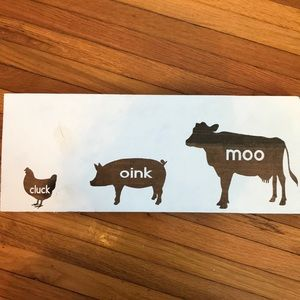 Other - Cluck, Oink, Moo wall hanging